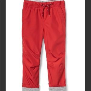 Gap Boys Jersey-lined red pull-on pants